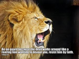 Lion Quotes Bible 1 peter 5:8roaring lion-public