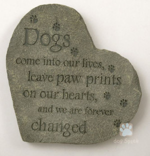 Gardens Stones, Dogs Quotes, Pets Memories, Leaves Pawprint, Dogs Pets ...