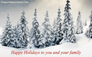 Happy Holidays Message for Friends and Family 2015