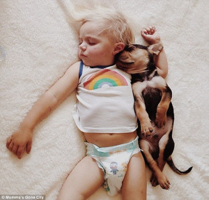 Nap time: In another set of photos that went viral last November ...