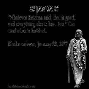 Srila Prabhupada Quotes For Month January 23