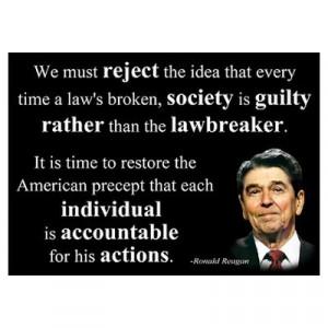 ... > Wall Art > Posters > Reagan Quote - Individual Accountable Poster