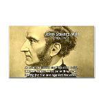 Utilitarianism John Mill Rectangle Sticker