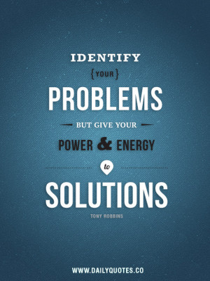 Success Quotes - Find Solutions by Tony Robbins