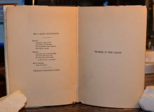 Scott Fitzgerald first edition, inscribed Tender is the Night ...