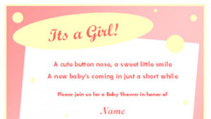 Baby Picture Frames Quotes on Baby Shower Invitation Template For Girl ...