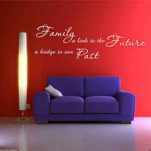 FAMILY-PAST-FUTURE-Wall-Art-Sticker-Lounge-Quote-Decal-Mural-Transfer ...