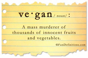 Funny definitions -vegan