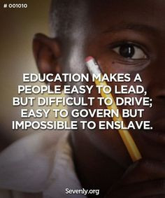 quotes on education black african school child