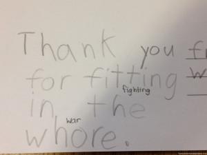 My best friend is an elementary school teacher. Her students are ...