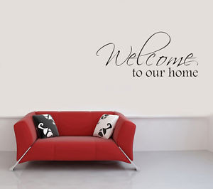 ... about WELCOME TO OUR HOME Vinyl Wall Quote Decal Family sticker