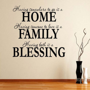 Home Family Blessing Wall Quote Sticker Decals Removable Vinyl Home ...