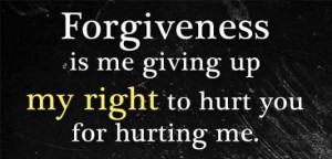 ... is me giving up my right to hurt you for hurting me image quotes