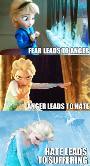 Elsa the Snow Queen Fall into the Dark Side of the 'Power'