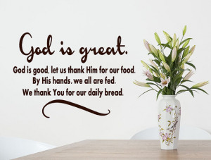 God Is Great God is Good vinyl wall decal Kitchen and Dining Room ...