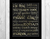 Bilbo Baggins' Party Speech Quote - Lord of the Rings - 5x7 Print. $8 ...