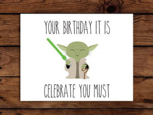 ... Funny Birthday Card, Birthday Card Ideas Diy, Star Wars Birthday Card