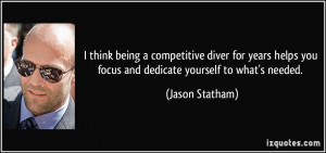think being a competitive diver for years helps you focus and ...
