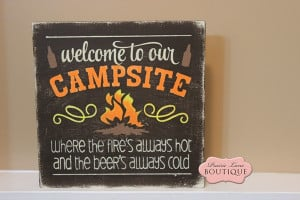 ... camping sign, camp sign, camp quote, wood sign, hand painted sign