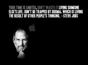 this inspired quote by the late, great Steve Jobs into a presentation ...