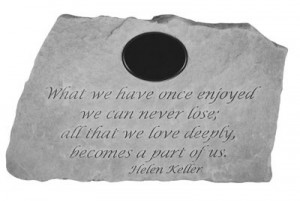 What we have once enjoyed...