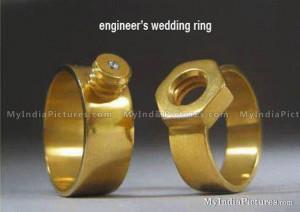 Mechanical Engineers Wedding Ring Funny