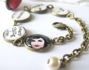 Jacqueline Kennedy Quote Antique Br ass Bracelet ...