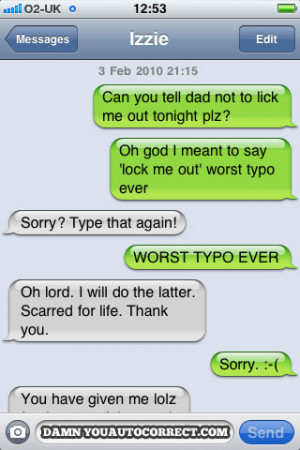 funny auto-correct texts - Message For Dad