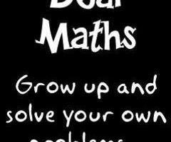 Dear Math Quotes Dear maths