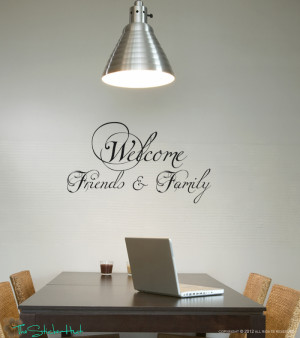 Welcome Friends Family Vinyl Wall Sticker Home Graphics Decal Sticker ...