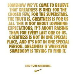 Achieving greatness does not always mean winning.