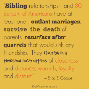 ... and sister quote having lots of siblings is siblings are people we