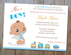 The Best Wording For Boy Baby Shower Invitations