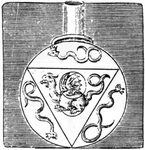 The flask contains the triangle and the three serpents of the three ...