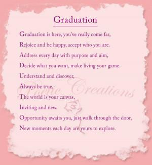 Graduation Poem