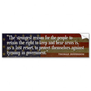 Bumper Sticker - Founding Father Quote