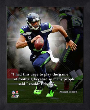 ... Shop By Category Wall Decorations Russell Wilson Framed Pro Quote