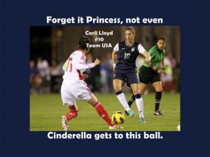 Girls Soccer Poster Carli Lloyd Quote Black by ArleyArtEmporium, $11 ...