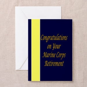 ... Greeting Cards > Marine Corps Retirement Congratulations Cards(Pk o