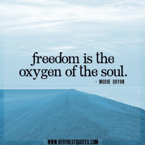 freedom quotes, sould quotes, Freedom is the oxygen of the soul.