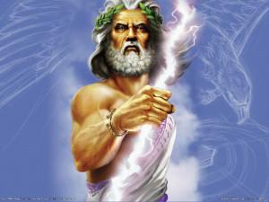 Zeus, Rey del Olimpo, señor del rayo, te bendice con su sangre, que ...