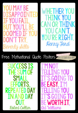 Motivational Quotes for State Testing {Free Posters!}