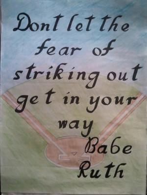 Babe Ruth - Motivational / Inspirational Quote - #Baseball #NYyankees ...