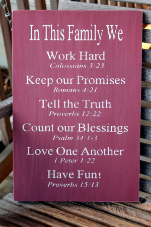 ... Family Rules Sign, Bible Verses, Christian Values sign, Family Values
