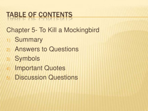 to kill a mockingbird importance of See what you know about the importance of setting in ''to kill a mockingbird'' using the quiz and worksheet we have developed studying offline for.