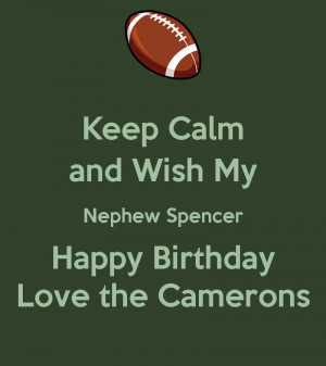 keep calm and wish my nephew happy birthday poster