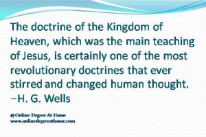 doctrines that ever stirred and changed human thought h g wells ...
