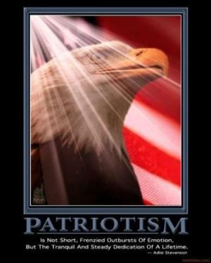 Patriotism. Adlai Stevenson quote