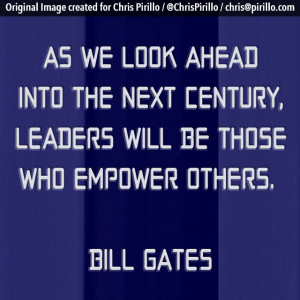Are you empowering others? That's the sign of a true leader. Today's ...