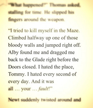 Maze Runner Quotes And Pages Clinic